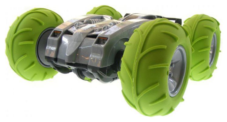 Купить Радиоуправляемая машинка CS toys Перевертыш с пневмоколесами Зеленый, Радиоуправляемые машинки