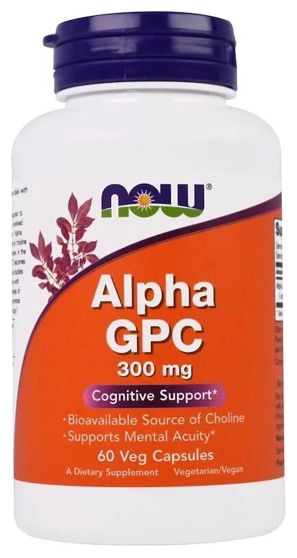 Купить Добавка для памяти Now Alpha Gpc (300 мг) 60 капсул