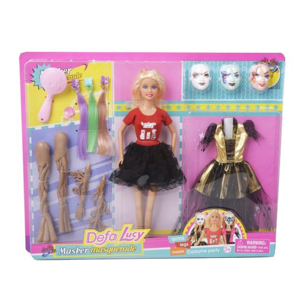 Купить DEFA Кукла Defa Lucy Маскарад, 14 предметов 8411, Классические куклы
