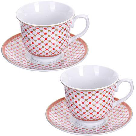 Чайный сервиз LORAINE розовая 28654 2 пер.