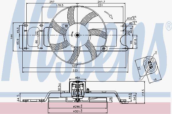 Вентилятор охлаждения двигателя NISSENS 85712