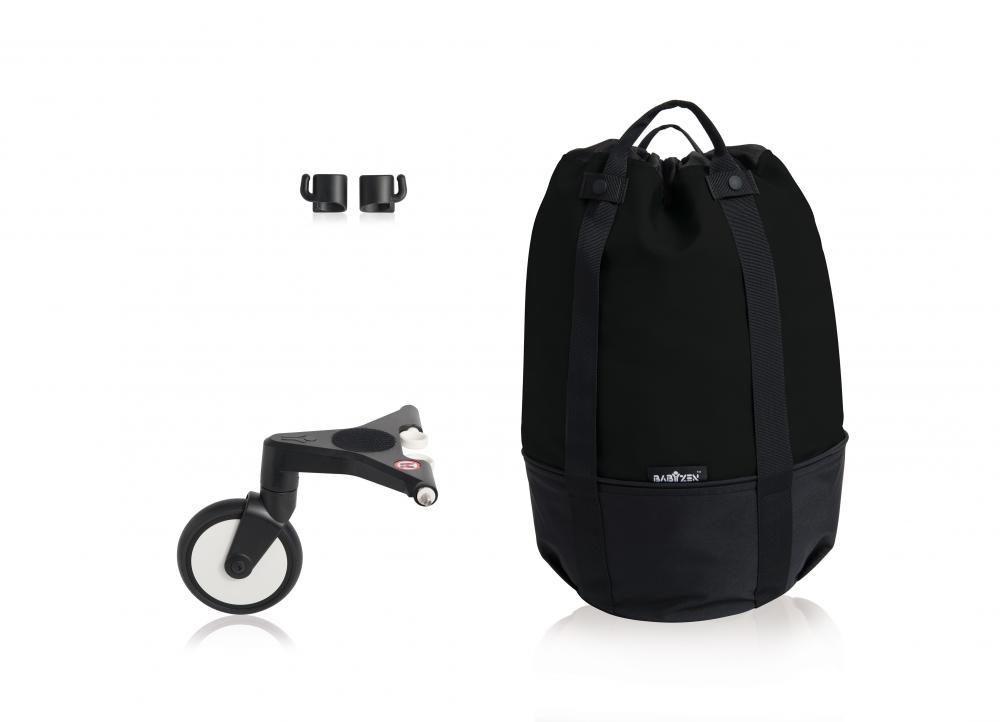 Купить Сумка для коляски Babyzen yoyo+ с колесом-платформой black, Сумки и пеналы для коляски