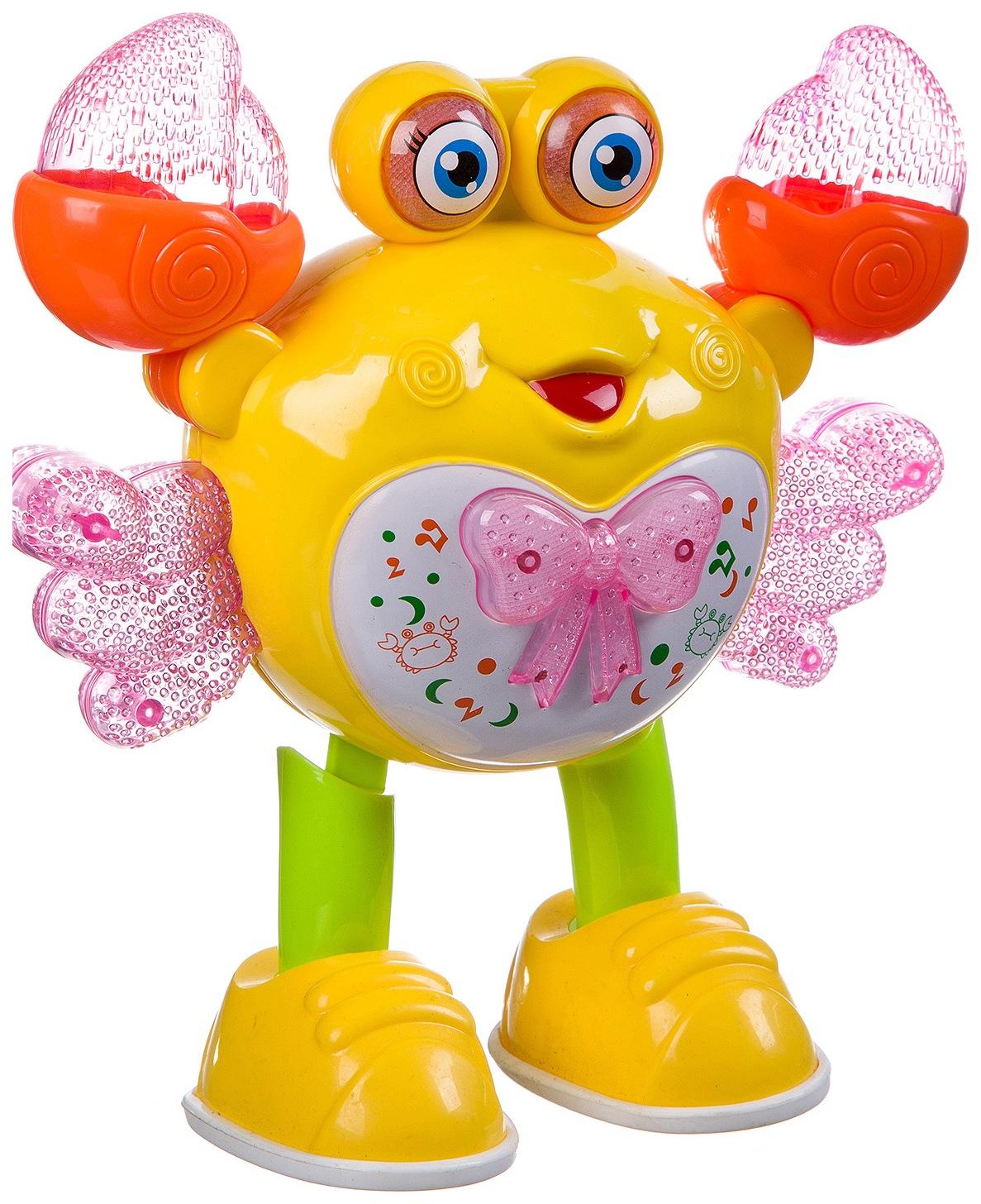 Интерактивная игрушка Shantou Gepai Танцующий краб в ассортименте, Интерактивные игрушки  - купить со скидкой