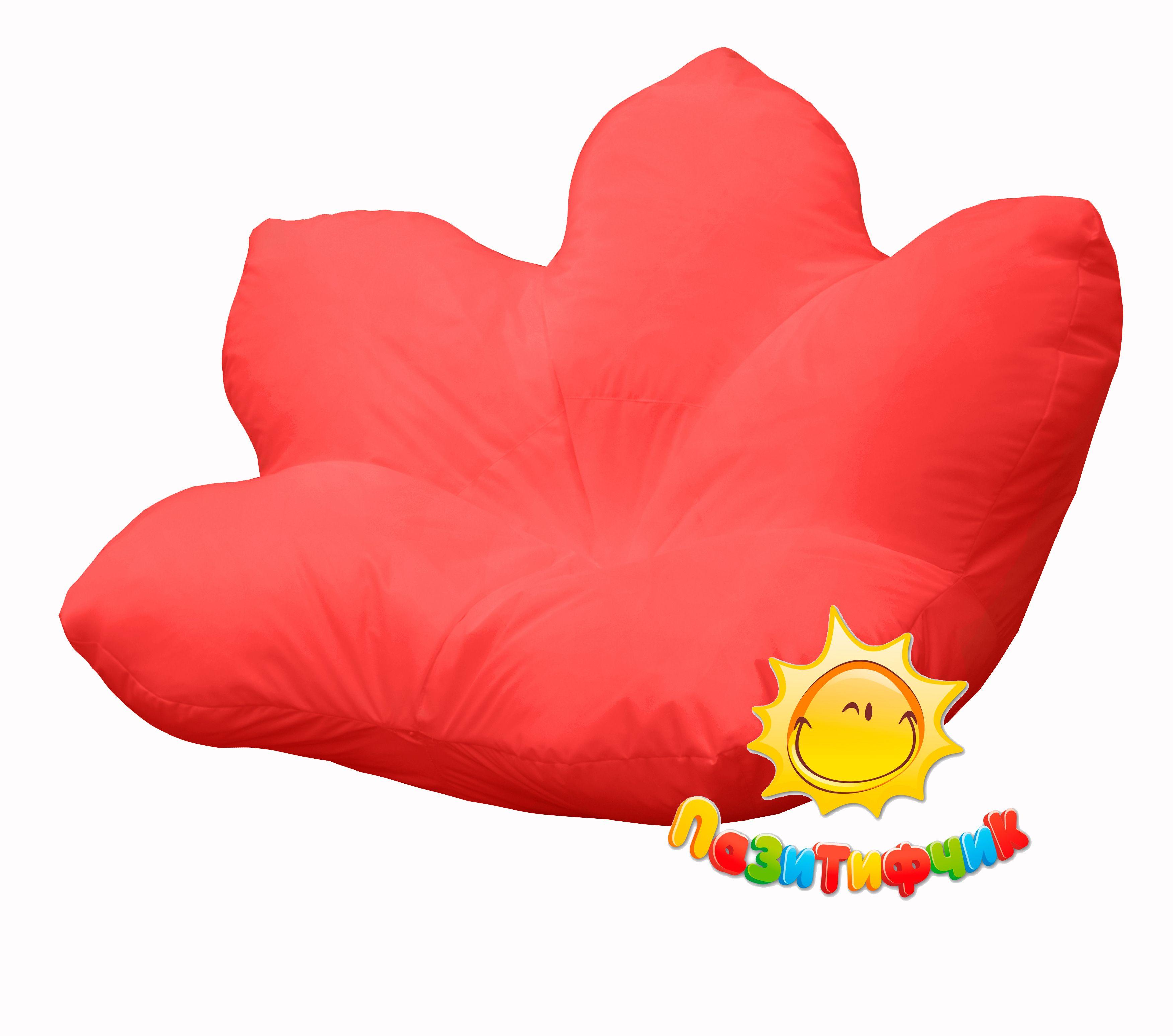 Кресло-мешок Pazitif Цветок Пазитифчик, размер XXXL, оксфорд, красный фото