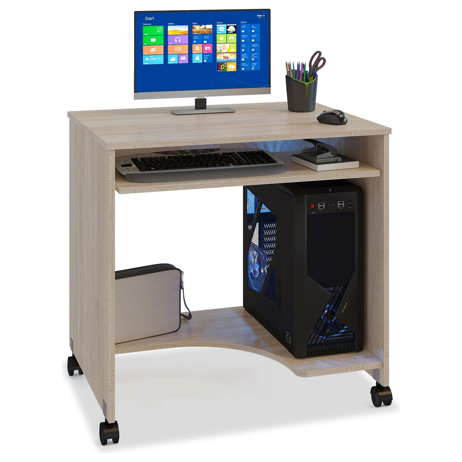 Компьютерный стол СОКОЛ КСТ-15 80x60x77, дуб сонома