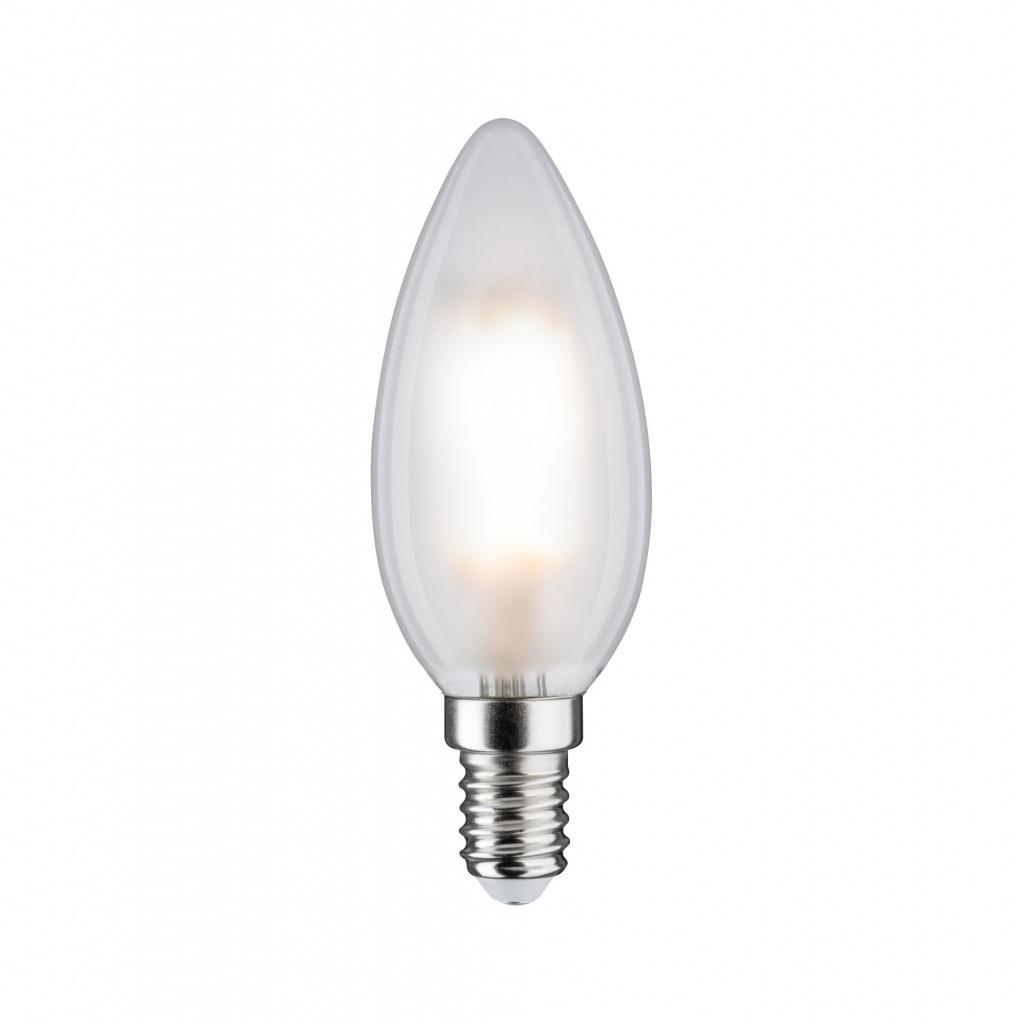Светодиодная лампа Свеча 5 Вт E14 Белый матовый Нейтральный белый Диммируемый 28727