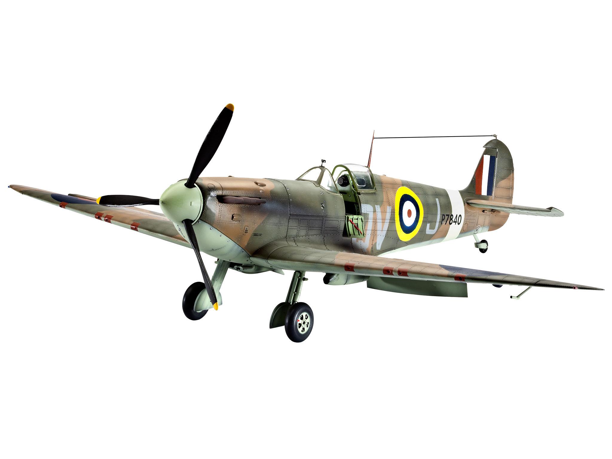 Купить Самолет истребитель спитфайэр mk ii, британский времен второй мировой войны, Revell, Модели для сборки