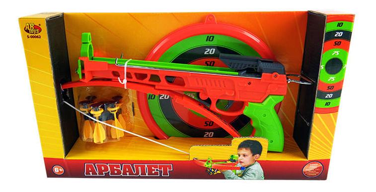 Арбалет ABtoys со снарядами на присосках