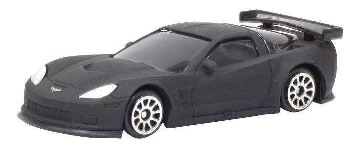 Купить Машина Uni-Fortune 1:64 Chevrolet Corvette C6R без механизмов черный матовый, Коллекционные модели