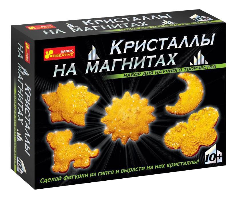 Купить 12126001Р, Набор для выращивания кристаллов Ranok Creative Кристаллы на магнитах желтые, Наборы для выращивания кристаллов