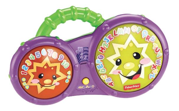 Купить Интерактивное Бонго, Барабан игрушечный Fisher price Барабаны-Бонго Mattel Fisher Price Для Купания, Fisher-Price, Детские музыкальные инструменты