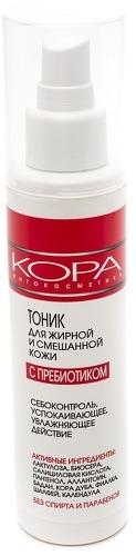 Купить Тоник для лица КОРА Для жирной и смешанной кожи с пребиотиком, 150 мл, KORA