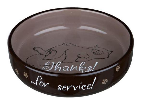 Одинарная миска для кошек TRIXIE, керамика, черный,