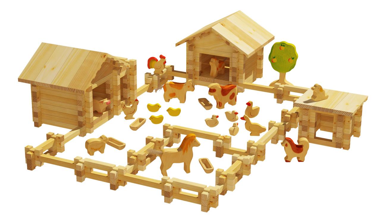 Конструктор деревянный Лесовичок Солнечная ферма №4
