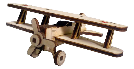 Купить Советский Самолет И-15, Конструктор деревянный Lemmo Советский самолет, Деревянные конструкторы