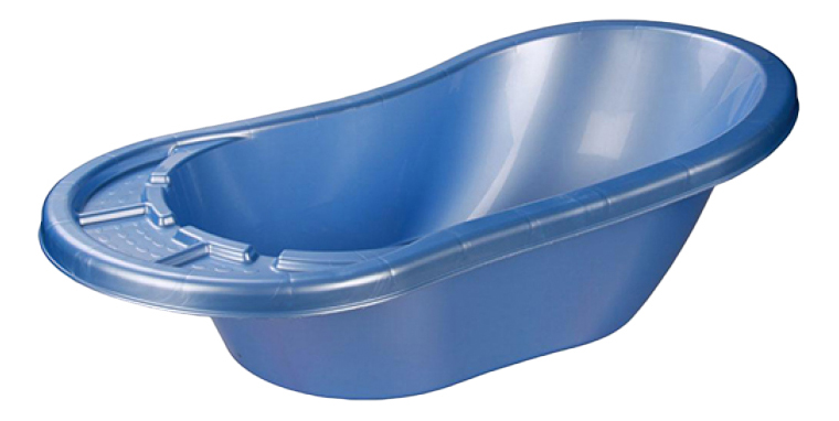 Купить Ванночка пластиковая Альтернатива Карапуз голубой,