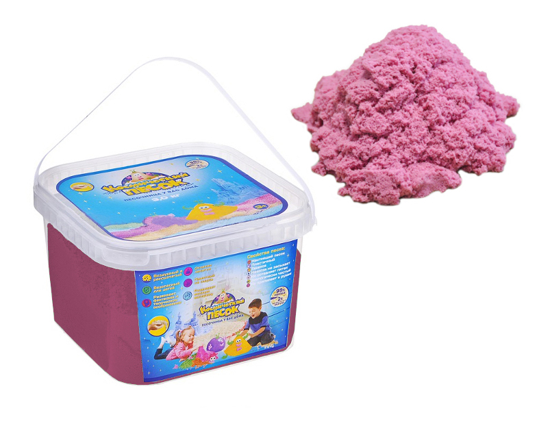 Кинетический песок 1TOY Космический песок розовый 3 кг