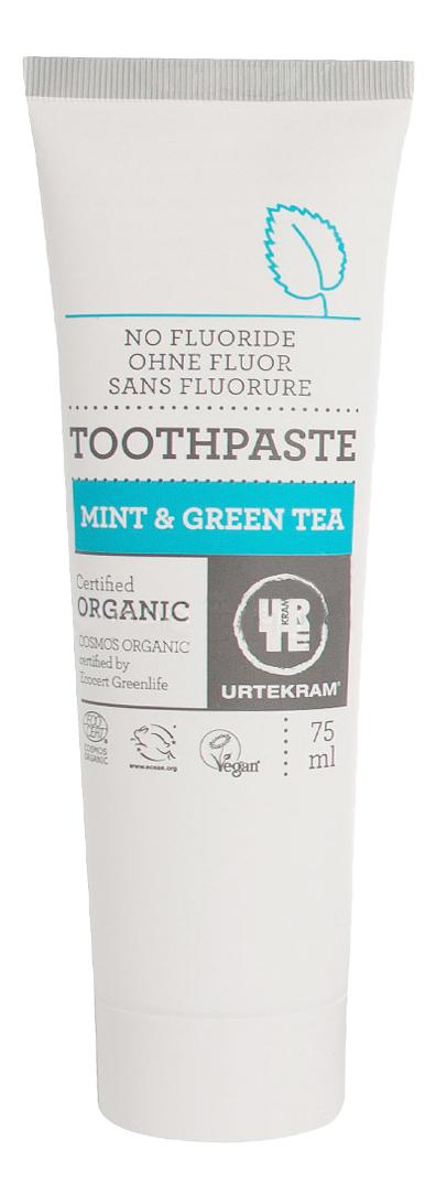Купить Детская зубная паста Urtekram Зеленый чай мята 75 мл, Детские зубные пасты