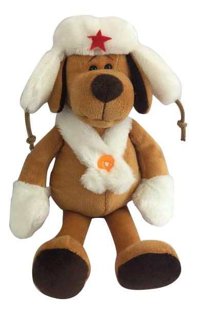 Мягкая игрушка Teddy Собака в белой ушанке, 16cм фото