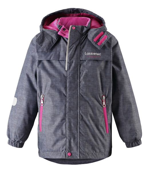 Куртка Lassie зимняя Lassietec серо-розовая р.116 фото