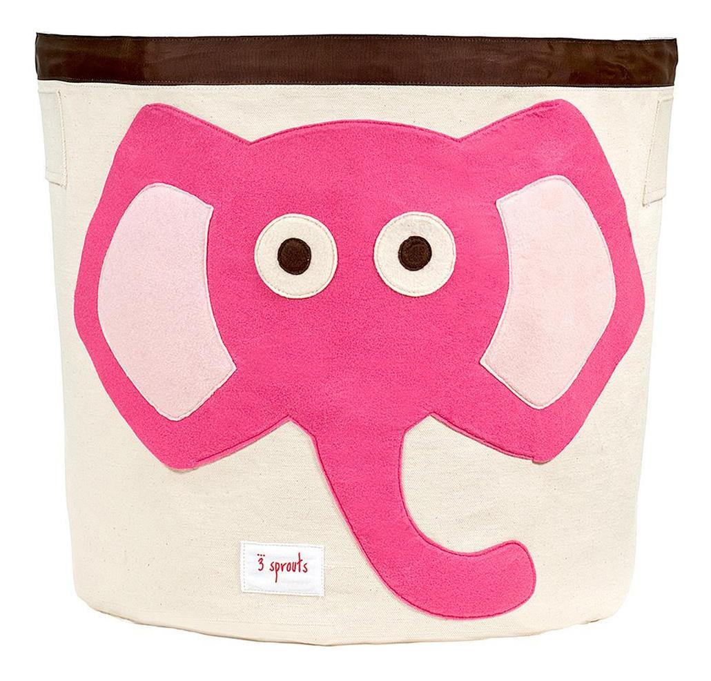 Купить Корзина для хранения игрушек 3 sprouts Слоненок розовый, Корзины для хранения игрушек