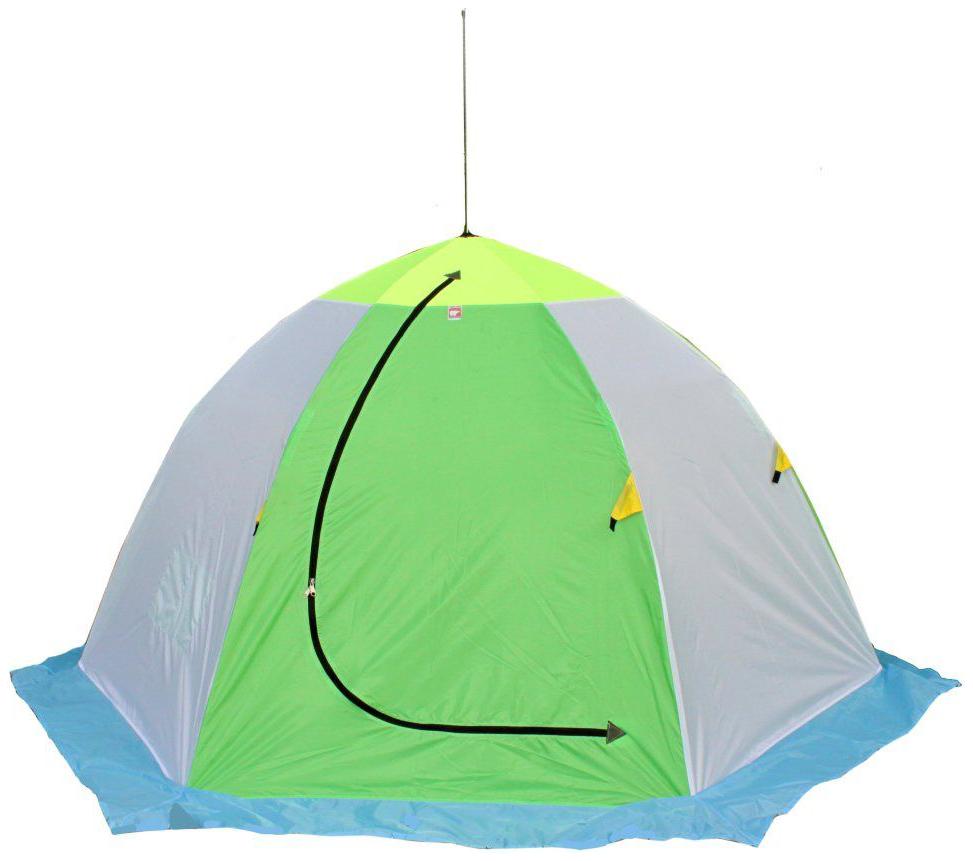 Палатка Медведь 3 трехместная белая фото