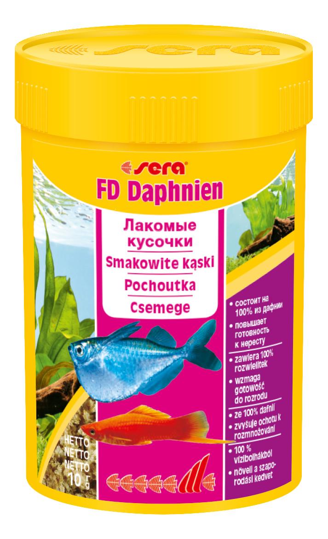 Корм для рыб Sera FD DAPHNIEN, сублимированный, дафния, 10 г фото