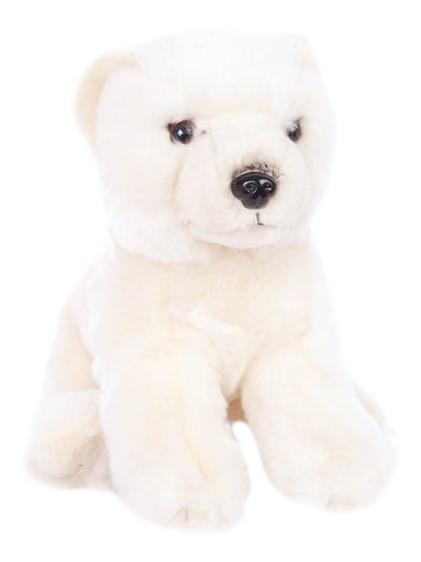 Купить Мягкая игрушка дикое животное 681408, Мягкая игрушка Fluffy Family белый Медведь 20 см 681408, Мягкие игрушки животные