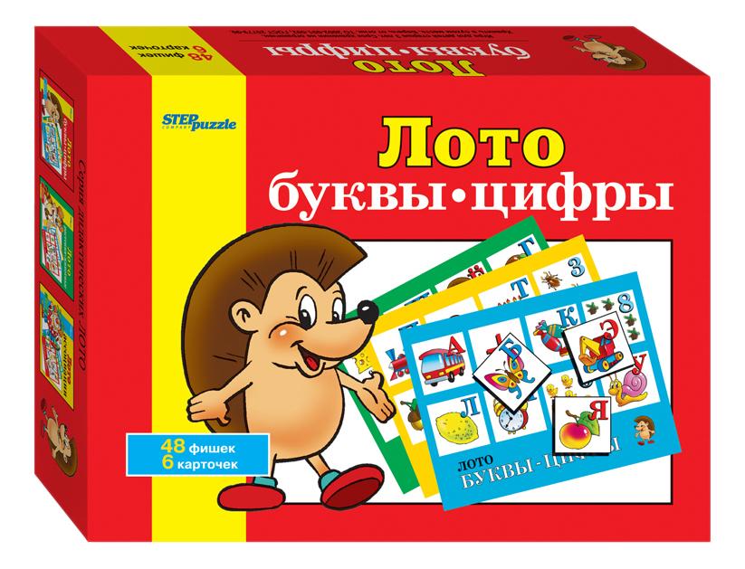 Купить Семейная настольная игра Step Puzzle Лото Буквы цифры, Дидактические игры