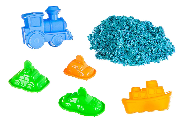 Кинетический и космический песок Bondibon Марсианский песок 5 формочек голубой 500 г фото