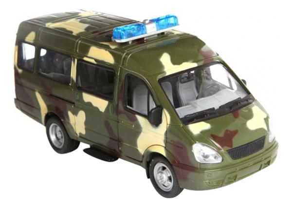 Купить Газель, Инерционная машина автопарк военный микроавтобус 1:27 Play Smart А26077, PLAYSMART, Игрушечные машинки