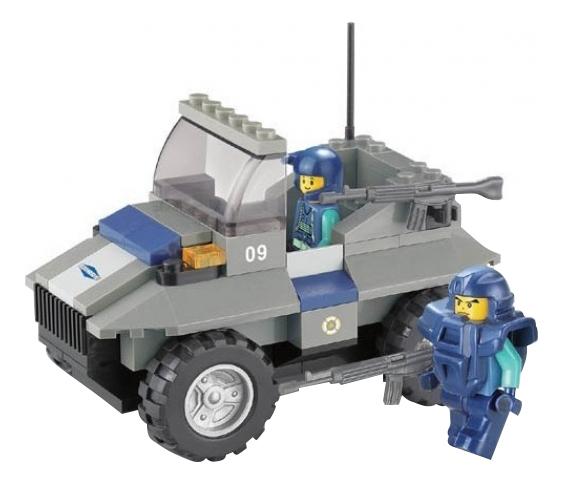 Купить Конструктор военный спецназ штурмовой джип 103 детали Г35964, Конструктор Военный спецназ Штурмовой джип 103 детали Sluban Г35964, Конструкторы пластмассовые