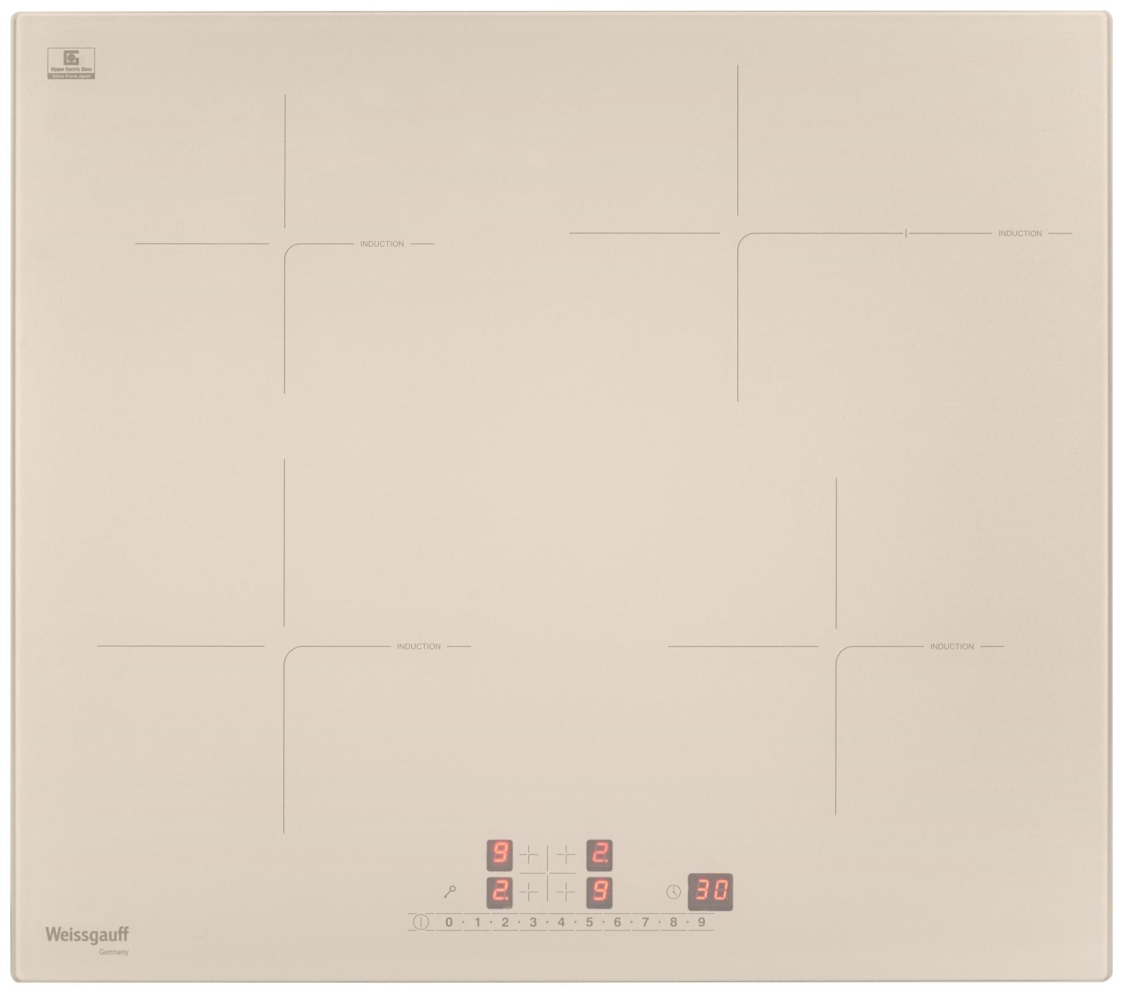 Встраиваемая варочная панель индукционная Weissgauff HI 641 GS Beige фото