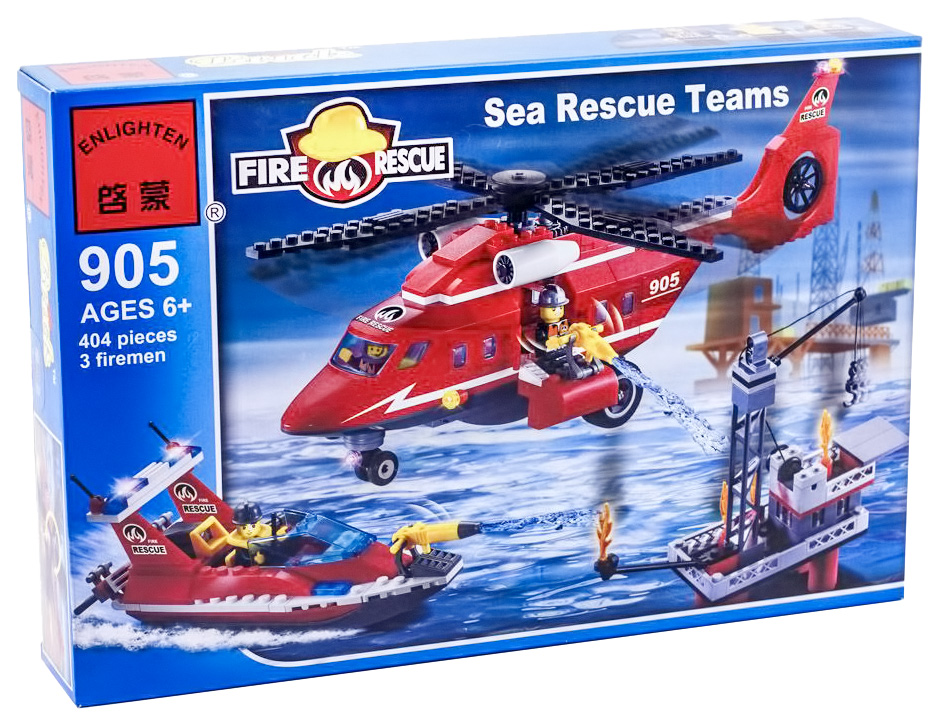 Купить Морская пожарная служба, Конструктор Brick Морская Пожарная служба 404 детали BRICK905, Конструкторы пластмассовые