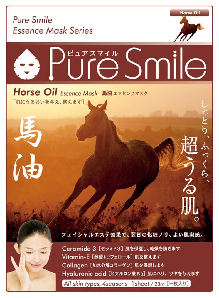 Маска для лица SUNSMILE Pure Smile Essence Mask Horse Oil 23 мл фото