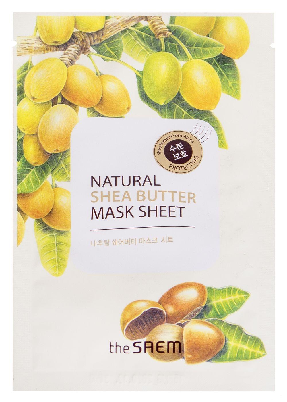 Купить Маска тканевая N с экстрактом масла ши Natural Shea Butter Mask Sheet 21мл, THE SAEM