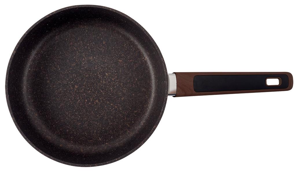 Сковорода Polaris Grafitech-28F, 28 см, алюминий кованый, коричневый