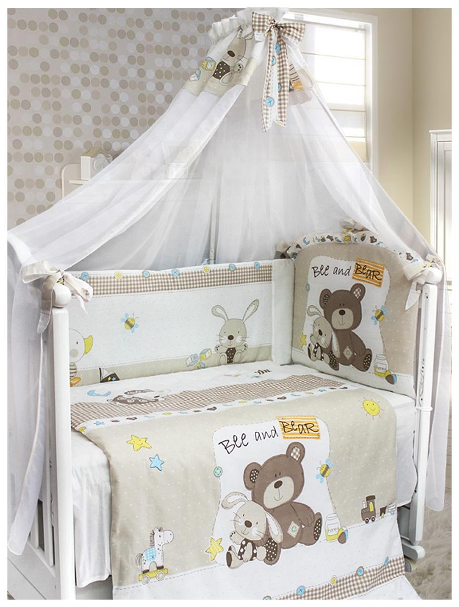 Купить L'ABEILLE Комплект в кроватку Amico (7 предметов) УТ0009204, Комплекты детского постельного белья