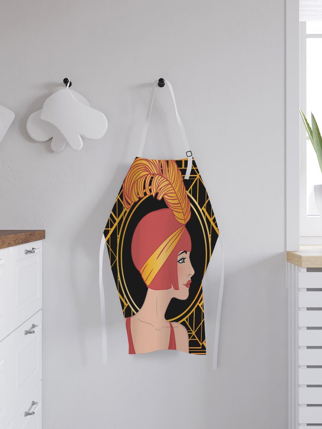 Фартук кухонный регулируемый «Красотка с пером», универсальный размер