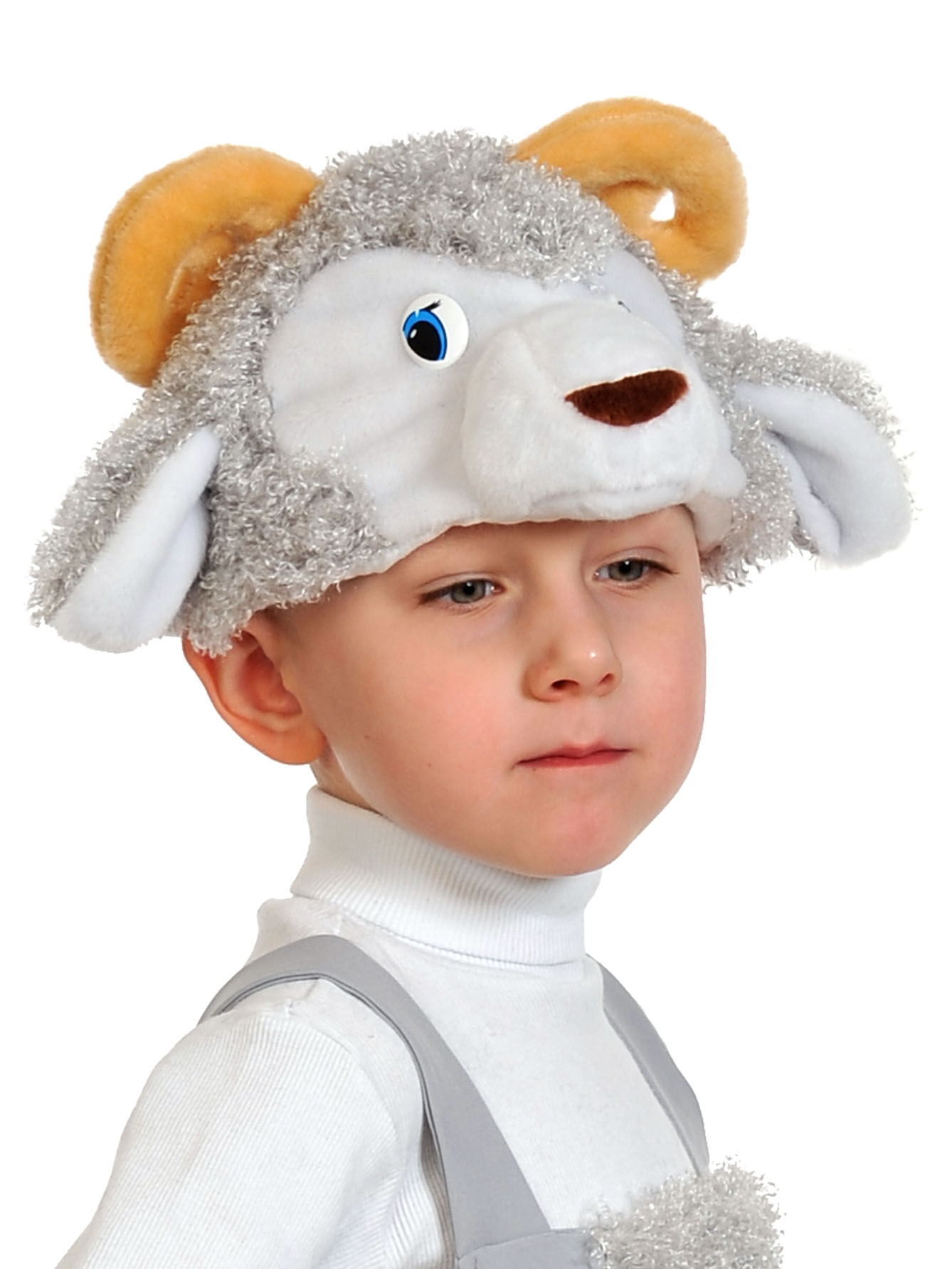 Карнавальная маска-шапка Карнавалофф Барашек (размер 53-55)