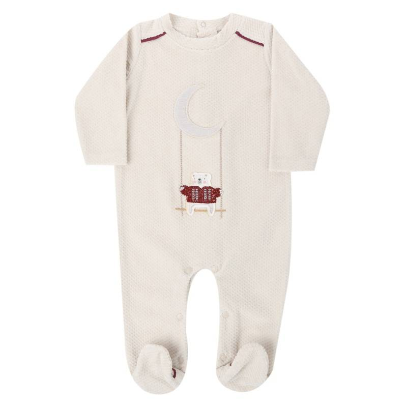 Купить Комбинезон BIBABY, цв. бежевый, 62 р-р, Трикотажные комбинезоны для новорожденных