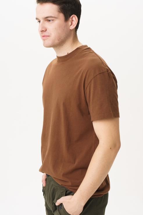 Футболка мужская Produkt by Jack & Jones 12165131 коричневая M