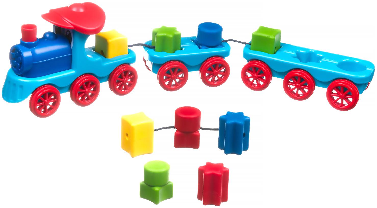 Купить Логическая игра Bondibon Поезд-сортер арт. SG 040 RU., Игрушки головоломки