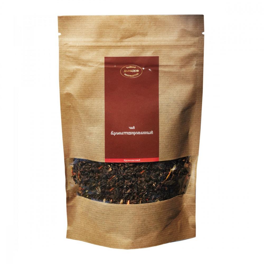 Чай Чайная мануфактура Давыдов Земляника со сливками черный 100 г
