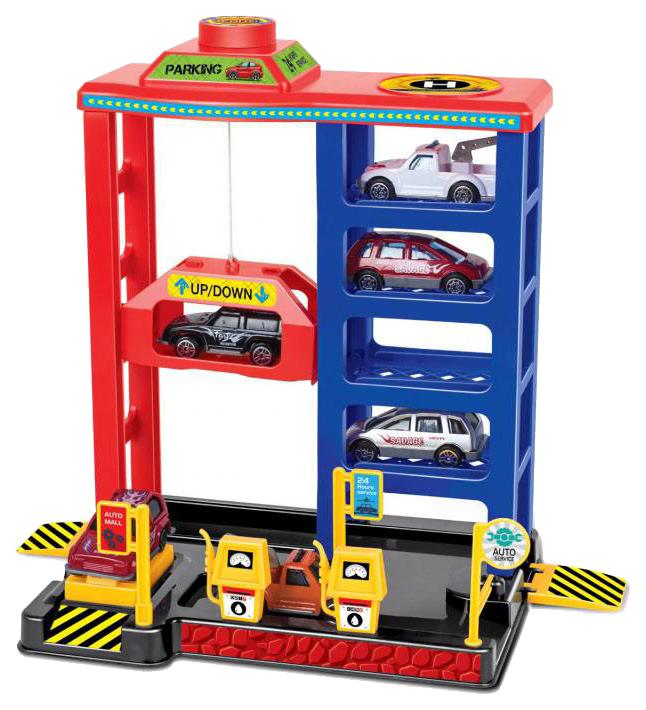 Купить Парковка Технопарк Многоуровневая стоянка P8388A-1R, Детские парковки