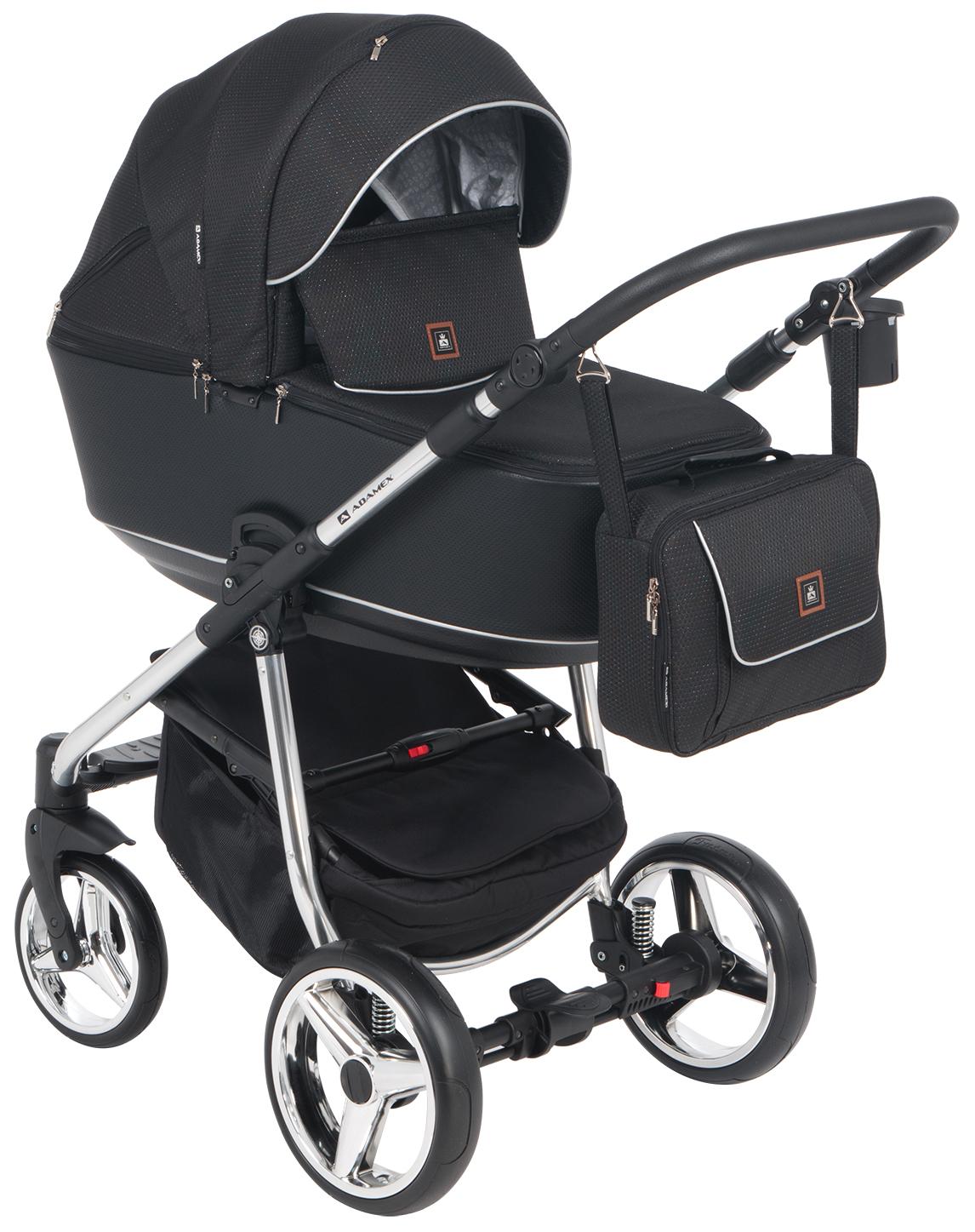 Купить Коляска 3 в 1 Adamex Barcelona special edition BR-605 цвет черный жаккард, Детские коляски 3 в 1