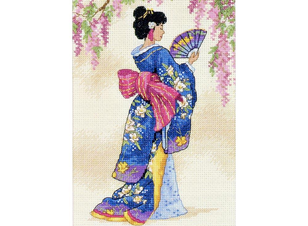 Набор для вышивания Dimensions Элегантная гейша, арт.19978 фото