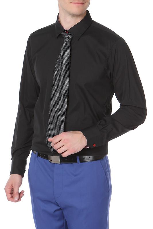 Рубашка мужская MONDIGO 16518/ черная S