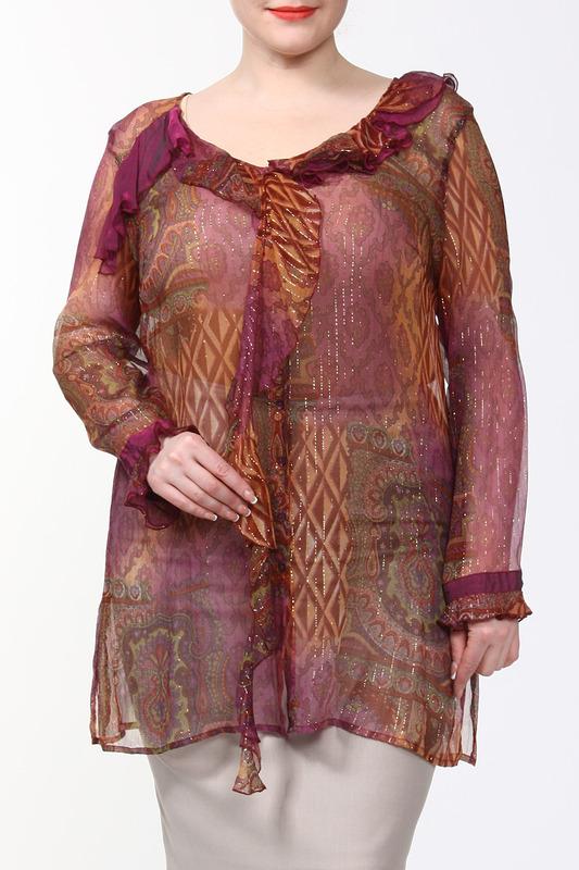 Блуза женская Alain Weiz C351 красная 44 FR Alain Weiz   фото