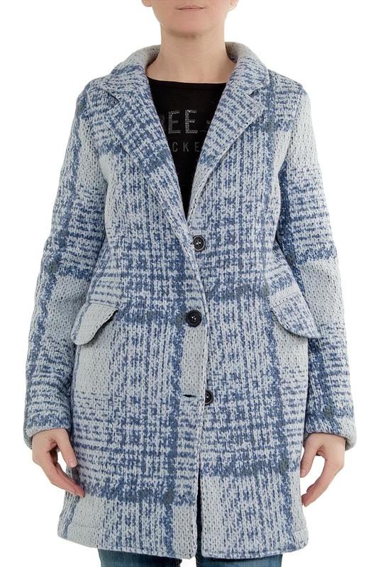 Пальто женское ALBION 102 голубое XS